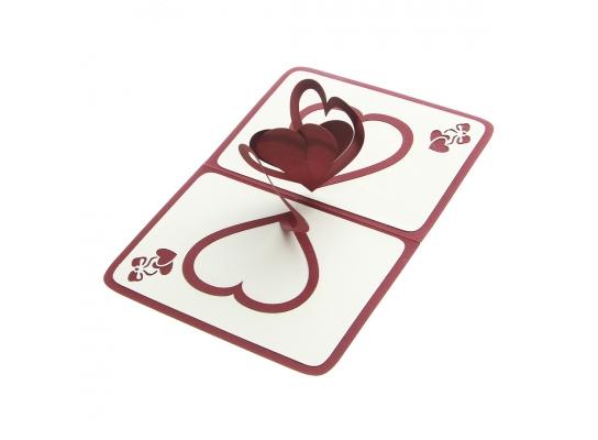 Обьемная открытка Сердца фото