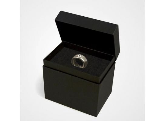 Чашка черная Серебряное кольцо с бриллиантом 250 мл фото