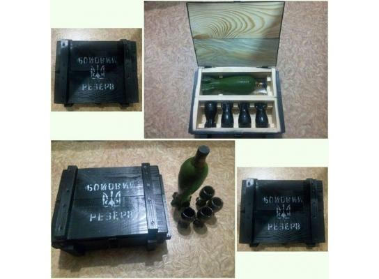 Подарочный набор для алкогольных напитков Боевой резерв фото