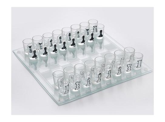 Игра Шахматы-рюмки 34 см фото