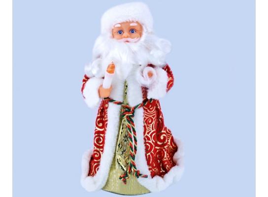Новогодний Дед Мороз Музыкальная под Елку 25 см фото