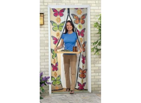 Москитная сетка с бабочками фото