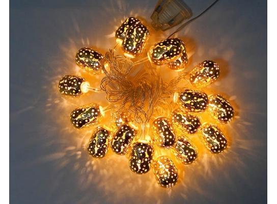 Гирлянда Цилиндр Золото LED 20 фото