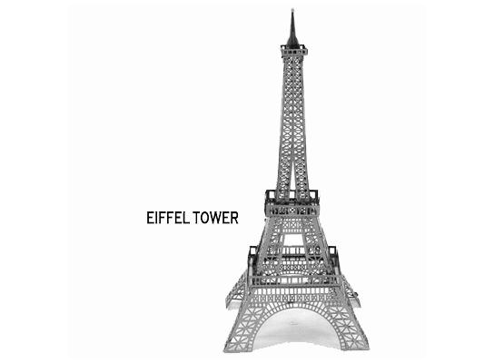 3D конструктор Эйфелейвая башня фото