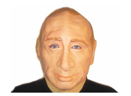 Карнавальная маска резиновая Путин фото