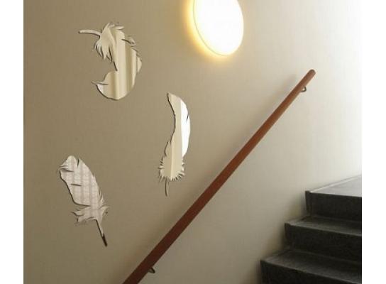 Декоративное акриловое зеркало Перья фото
