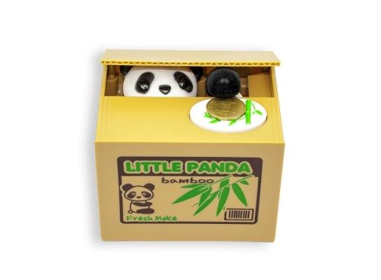 Копилка панда-воришка фото