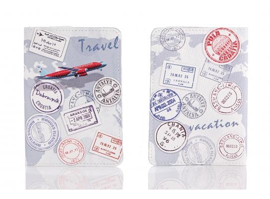 Кожаная обложка на паспорт Travel фото