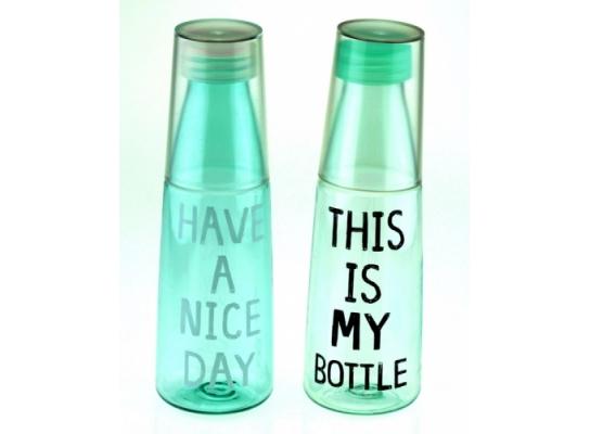 Бутылка My Bottle со стаканом фото