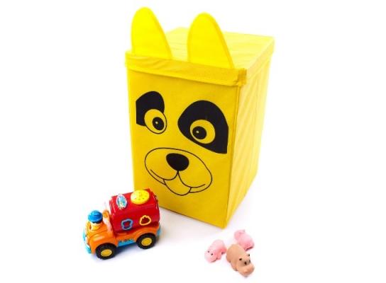 Ящик - корзина для хранения игрушек с крышкой Собачка фото