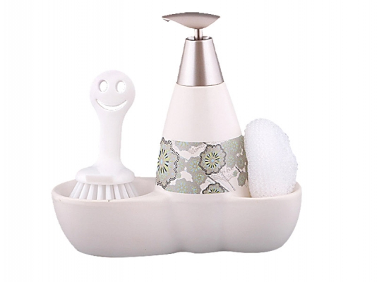 купить Набор для мыла с губкой и щеткой Георгин