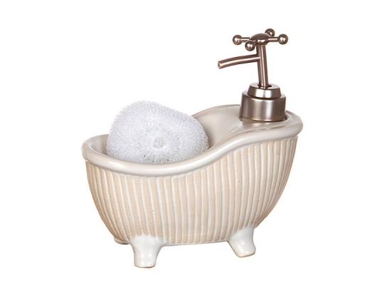 купить Дозатор с мочалкой Белая ванна