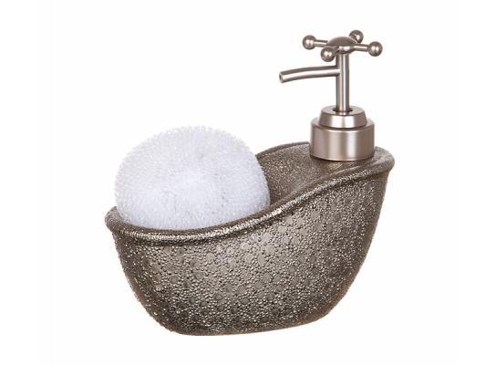 купить дозатор с мочалкой Серебряная ванна