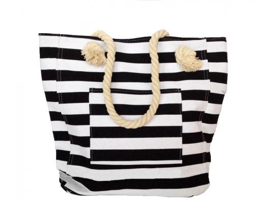 Пляжная текстильная сумка в морском стиле в полоску фото 4