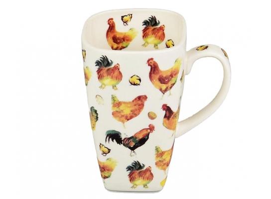 Чашка Петух и курица 720 мл фото