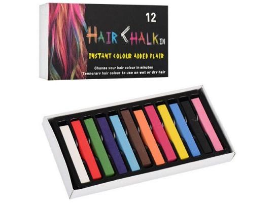 Мелки для волос Hair chalk, 12 шт фото