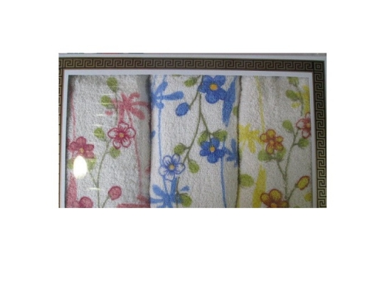 Подарочный набор полотенец Цветы на ветке фото
