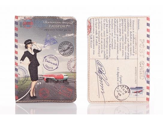 Кожаная обложка на паспорт Ukrainian tourist фото
