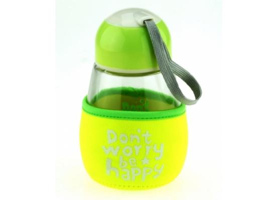 Бутылка с чехлом Don't worry,be happy фото