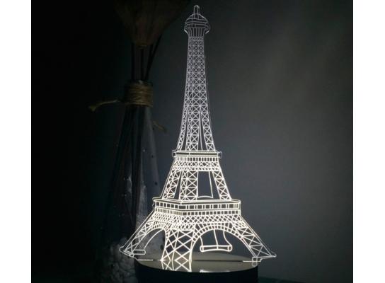 Светильник вращающий Оптический обман Эйфелевой башни фото