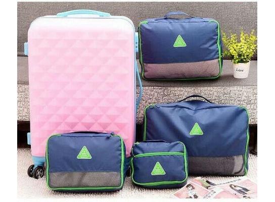 Набор сумок - органайзеров 4шт. Синий фото