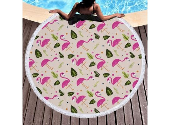 Пляжный коврик Летний Фламинго фото