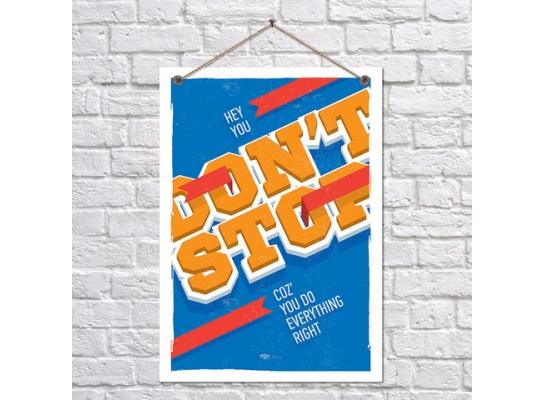 Постер Не останавливайся фото