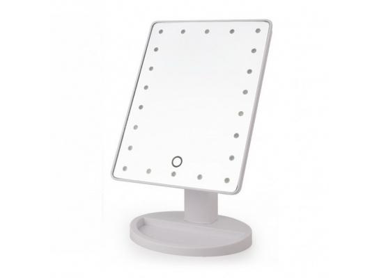 Настольное зеркало для макияжа Magic Makeup с LED подсветкой Белое фото