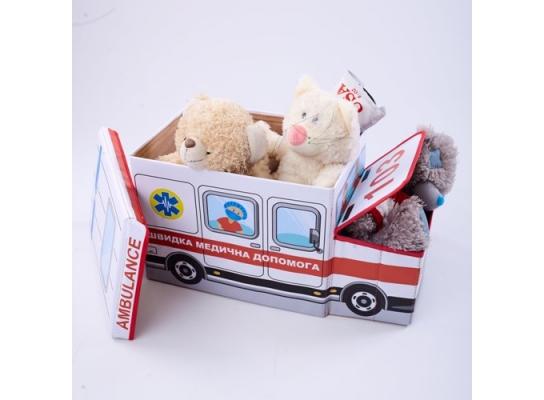 Пуф-ящик для игрушек Скорая помощь фото