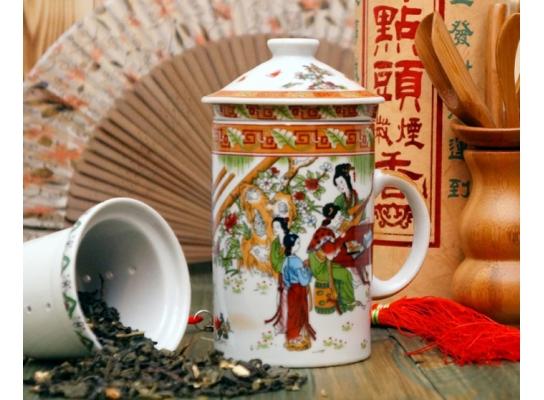 Кружка - заварник с ситечком и крышкой Китай фото