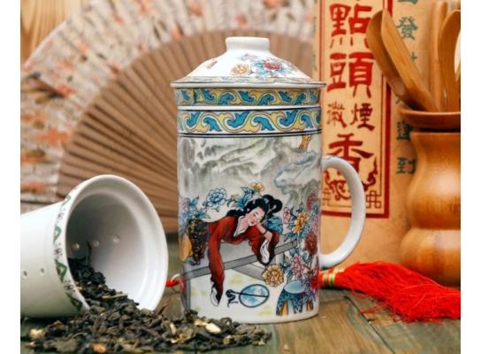 Чашка из ситечком и крышкой Мелодия чаепития фото 1