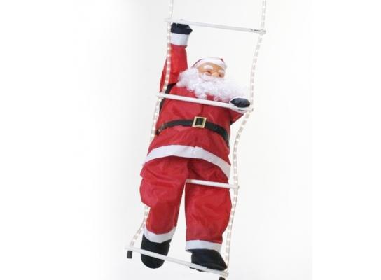 Новогодняя игрушка Подвесной Санта Клаус 30 см фото
