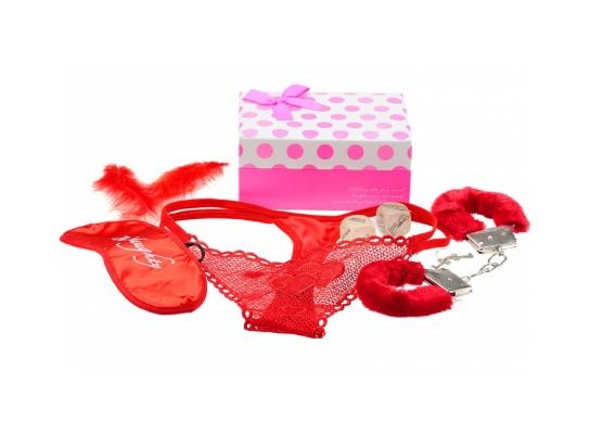 Подарочный набор - наручники и плетка фото