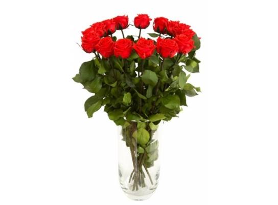 Букет долгосвежих роз Красный Рубин фото