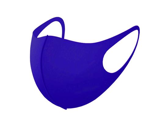 Трехслойная защитная маска многоразовая ультрамарин фото 5