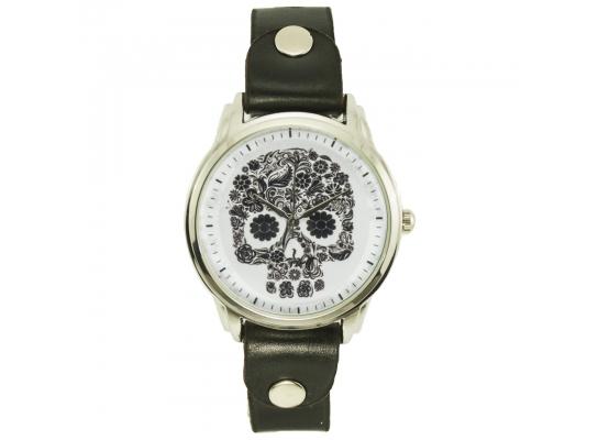 Наручные часы на эксклюзивном ремешке Череп фото