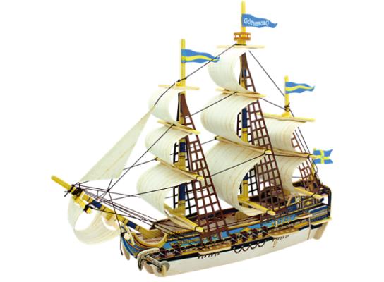 Миниатюрный 3D корабель ручной работы «Готенбург» фото