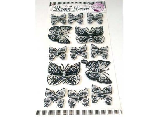 Интерьерная 3D наклейка Бабочки фото