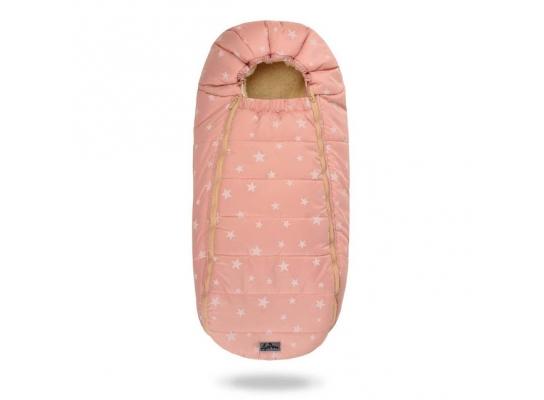 Конверт -кокон меховой Baby XS Розовые звезды фото