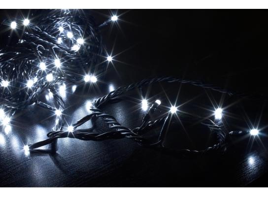 Гирлянда светодиодная LED 100 с черным проводом фото