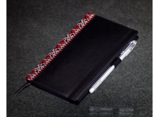 Блокнот с черной бумагой Черная Вышиванка стандарт фото