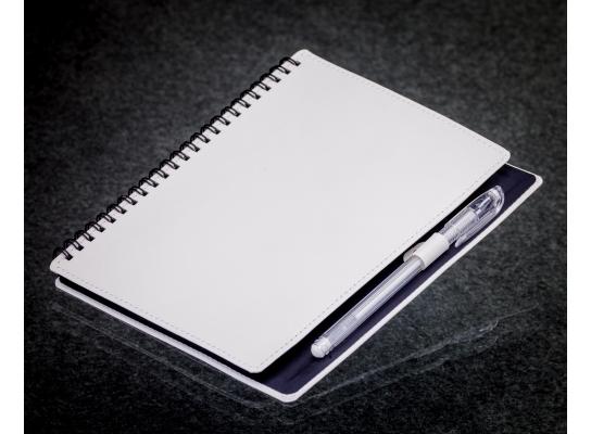 Блокнот с черной бумагой Белый на пружине фото