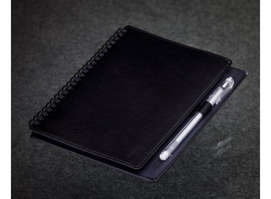 Блокнот с черной бумагой Черный на пружине фото