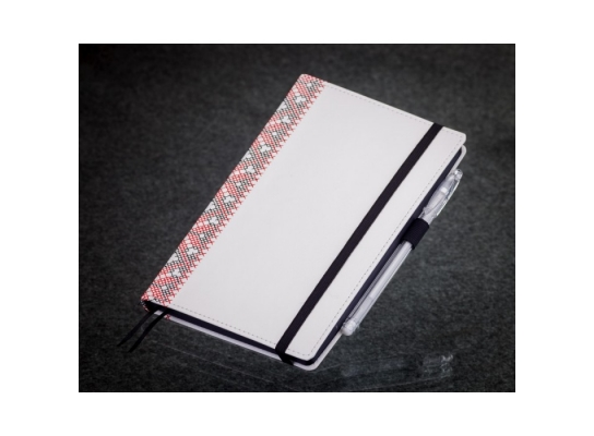 Блокнот с черной бумагой Белая Вышиванка мини фото 3