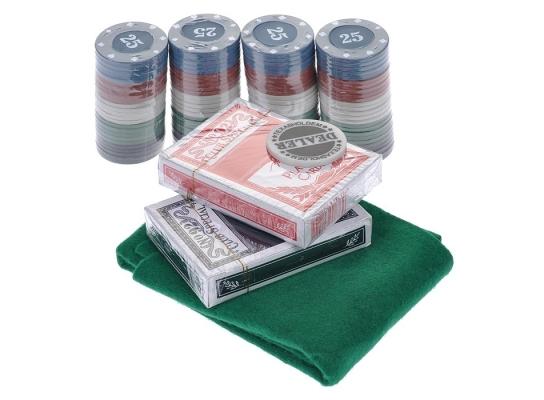 Покерный набор в блистере Poker Chips 200 фото