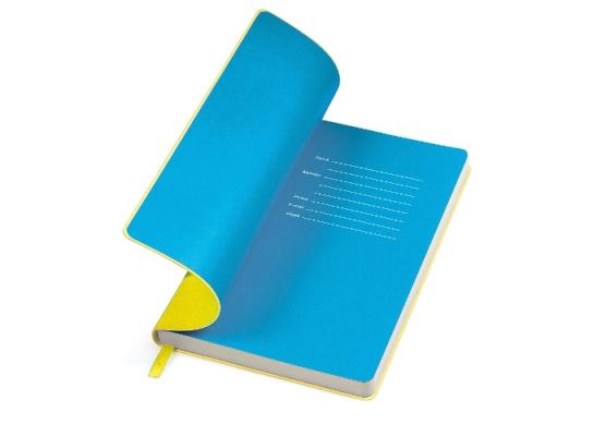 Бизнес-блокнот Funky Желто-синий