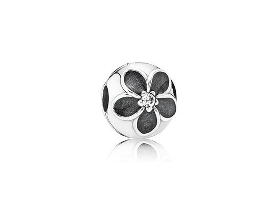 Бусина Pandora Черный цветок