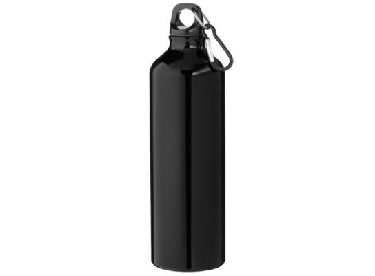 купить Алюминивая бутылка с карабином, 770мл Черная