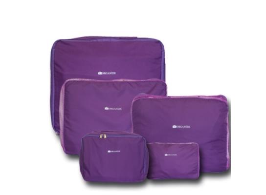 Дорожные сумки-органайзеры в чемодан ORGANIZE фиолетовые 5 шт, купить, цена, фото