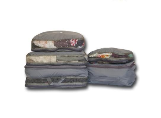 Дорожные сумки-органайзеры в чемодан ORGANIZE серые 5 шт, купить, цена